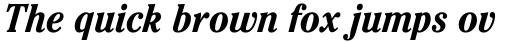 ITC Cheltenham Pro Condensed Bold Italic sample