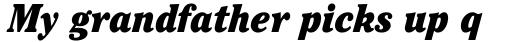ITC Cheltenham Pro Condensed Ultra Italic sample