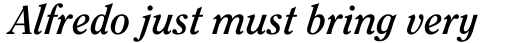 ITC Clearface Pro Bold Italic sample