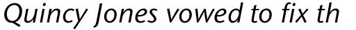 Stone Sans Pro Medium Italic sample