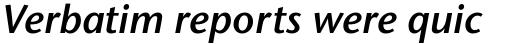 Stone Sans Pro SemiBold Italic sample