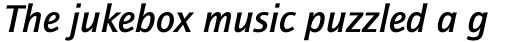 ITC Quay Sans Std Medium Italic sample