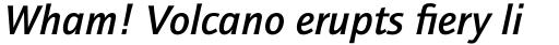 ITC Quay Sans Pro Medium Italic sample