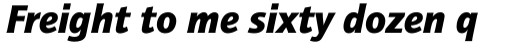 ITC Quay Sans Com Black Italic sample