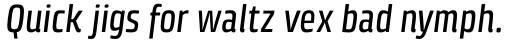 Klint Std Medium Condensed Italic sample