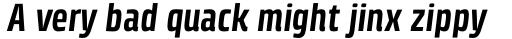 Klint Std Bold Condensed Italic sample