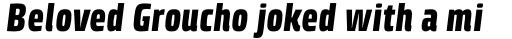 Klint Std Black Condensed Italic sample