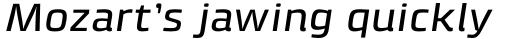 Klint Std Medium Extended Italic sample