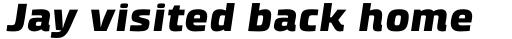 Klint Std Black Extended Italic sample