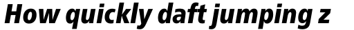 Neue Frutiger Pro Condensed Black Italic sample