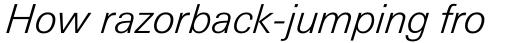 Univers Next Pro Cyrillic 331 Light Italic sample