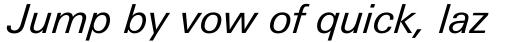 Univers Next Pro Cyrillic 431 Italic sample