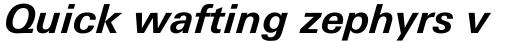 Univers Next Pro Cyrillic 631 Bold Italic sample