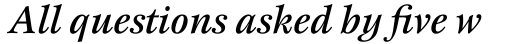 New Esprit Pro Medium Italic sample