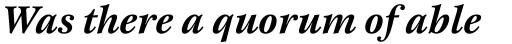 New Esprit Pro Bold Italic sample