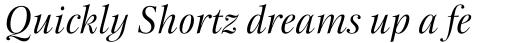 New Esprit Pro Display Italic sample
