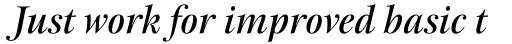 New Esprit Pro Display Medium Italic sample