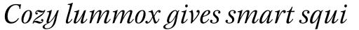 New Esprit Std Italic sample