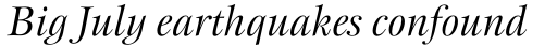 New Esprit Std Display Italic sample