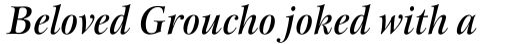 New Esprit Std Display Medium Italic sample