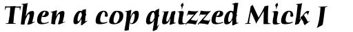 ITC Humana Serif Pro Bold Italic sample