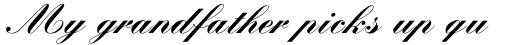 Kuenstler Script Com Black sample