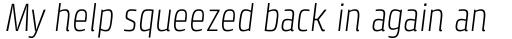 Klint Pro Light Condensed Italic sample