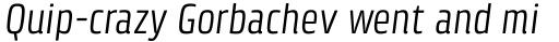 Klint Pro Condensed Italic sample