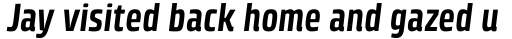 Klint Pro Bold Condensed Italic sample