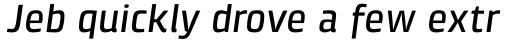 Klint Pro Medium Italic sample