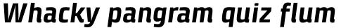 Klint Pro Bold Italic sample