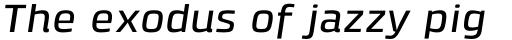 Klint Pro Medium Extended Italic sample
