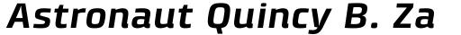 Klint Pro Bold Extended Italic sample
