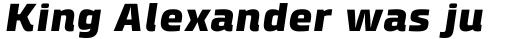 Klint Pro Black Extended Italic sample