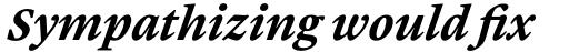 Malabar Pro Bold Italic sample