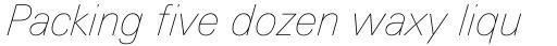 Linotype Univers 131 Basic UltraLight Italic sample