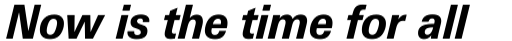 Linotype Univers 731 Basic Heavy Italic sample