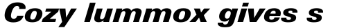 Linotype Univers 831 Basic Black Italic sample