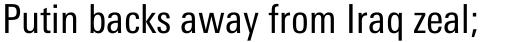 Linotype Univers 420 Condensed Regular sample