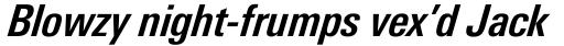 Linotype Univers 621 Condensed Bold Italic sample