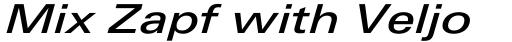 Linotype Univers 541 Extended Medium Italic sample