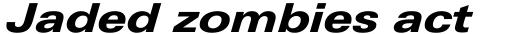 Linotype Univers 741 Extended Heavy Italic sample