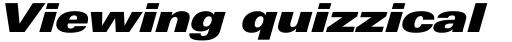 Linotype Univers 941 Extended ExtraBlack Italic sample