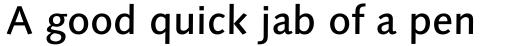 Linotype Syntax Medium sample