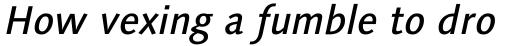 Linotype Syntax Medium Italic sample