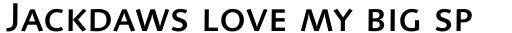 Linotype Syntax Medium SC sample