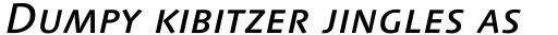 Linotype Syntax Medium Italic SC sample