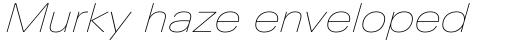 Linotype Univers Com 141 Extended UltraLight Italic sample