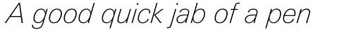 Linotype Univers Com 231 Basic Thin Italic sample