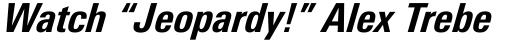 Linotype Univers Com 721 Condensed Heavy Italic sample
